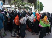 Gubernatorska agitacja przedwyborcza w Lamu, Kenja Fotografia Royalty Free