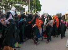 Gubernatorska agitacja przedwyborcza w Lamu, Kenja Obrazy Royalty Free