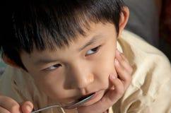 gubjący apetyta dzieciak zdjęcia royalty free