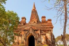 Gubyaukgyi tempel Bagan Arkivbilder