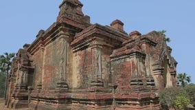 Gubyaukgyi Temple in Bagan, Nyaung U, Burma. stock footage