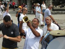 Guca Trumpet Festival 2018. Guca, Serbia, August 11, 2018. 57th Trumpet Festival in Guca. Worldwide known music festival in Serbia. Half million visitors from royalty free stock photos