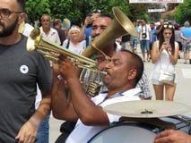 Guca trumpetfestival 2018 arkivfoton