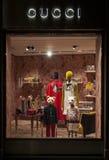 Gucci ягнится магазин окна Стоковая Фотография