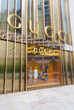GUCCI. Big GUCCI logo on the Stores.Photo is taken on 6 July 2012 at chengdu,china stock photography