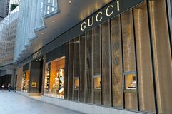 Gucci boutique Royalty Free Stock Photography
