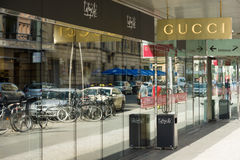 Gucci Boutique at Friedrichstrasse Stock Images