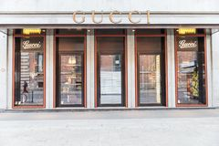 Gucci boutique Stock Photo