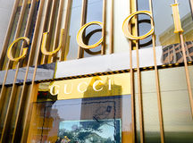 GUCCI brand. GUCCI store at chengdu city,china.Photo taken on 27 Mar 2011 stock images