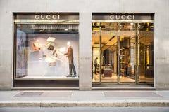 Gucci butik zdjęcie stock