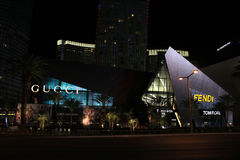 Gucci en Fendi-Opslag, Las Vegas, NV Royalty-vrije Stock Foto's