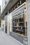 Gucci fashion store Stock Photo