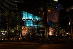 Gucci lager, remsan, Las Vegas, NV Arkivbilder