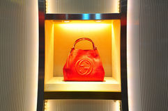 Gucci leather handbag Stock Photography