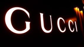 Gucci logo. In shanghai pudong,China royalty free stock photo