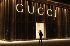 GUCCI mode shoppar Fotografering för Bildbyråer