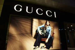 Gucci modelager i Kina Royaltyfria Bilder