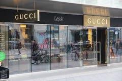 Gucci-Opslag Stock Afbeeldingen