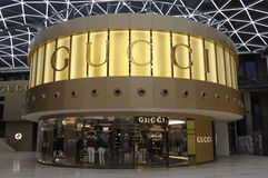 Gucci-opslag in hangzhou Stock Afbeelding