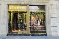 Gucci shop, Barcelona Royalty Free Stock Photo