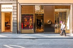 Gucci Shop in Florence, Italy Stock Photo