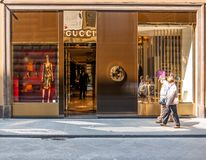 Gucci Shop in Florence, Italy Royalty Free Stock Images