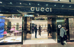 Gucci shop in Hong Kong Royalty Free Stock Images