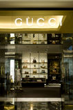 Gucci shop in The Mall of the Emirates. In Dubai Royalty Free Stock Photos