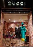 Gucci shoppar arkivfoton