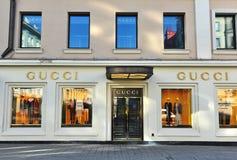 Gucci statku flagowego sklep, Petrovka ulica, Moskwa Fotografia Royalty Free