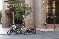 Gucci store in downtown Ho Chi Minh city in Vietnam Stock Photo
