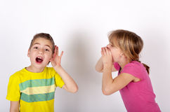 Głuchy chłopiec cant słucha Zdjęcia Stock