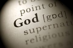Gud Arkivbild