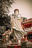 Gud av förskoningstatyn i Hong Kong Arkivfoton