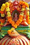 Gud Ganesha på altaret på den hinduiska templet Arkivbild