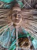 Gud handgjorda SHIVA Face Arkivbild