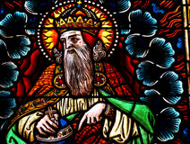 Gud i målat glass Fotografering för Bildbyråer