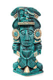 gud isolerad mayan mexico staty Arkivbilder