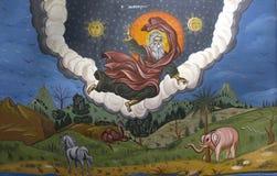 Gud som skapar världen Arkivbilder