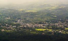 Gudalur от точки зрения утеса иглы в Nilgiris Стоковая Фотография