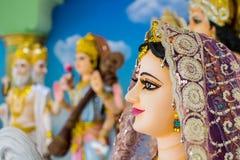 Gudar av Hinduism tillbes av indierna arkivbilder