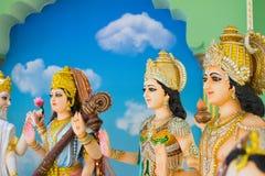 Gudar av Hinduism tillbes av indierna royaltyfri fotografi