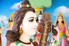 Gudar av Hinduism tillbes av indierna royaltyfri foto