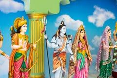 Gudar av Hinduism tillbes av indierna arkivfoton