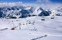 gudauri手段滑雪 库存照片