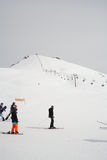 Gudauri, Georgia - March 6, 2017. Mountains ski resort Gudauri Georgia - nature and sport background Royalty Free Stock Photography