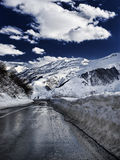 Gudauri road Royalty Free Stock Image