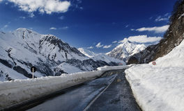 Gudauri road Stock Images