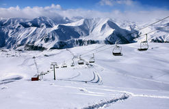 Gudauri Skiort stockfotos