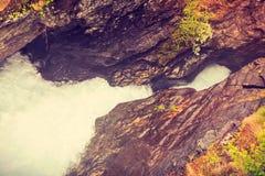 Gudbrandsjuvet峡谷在挪威 库存图片